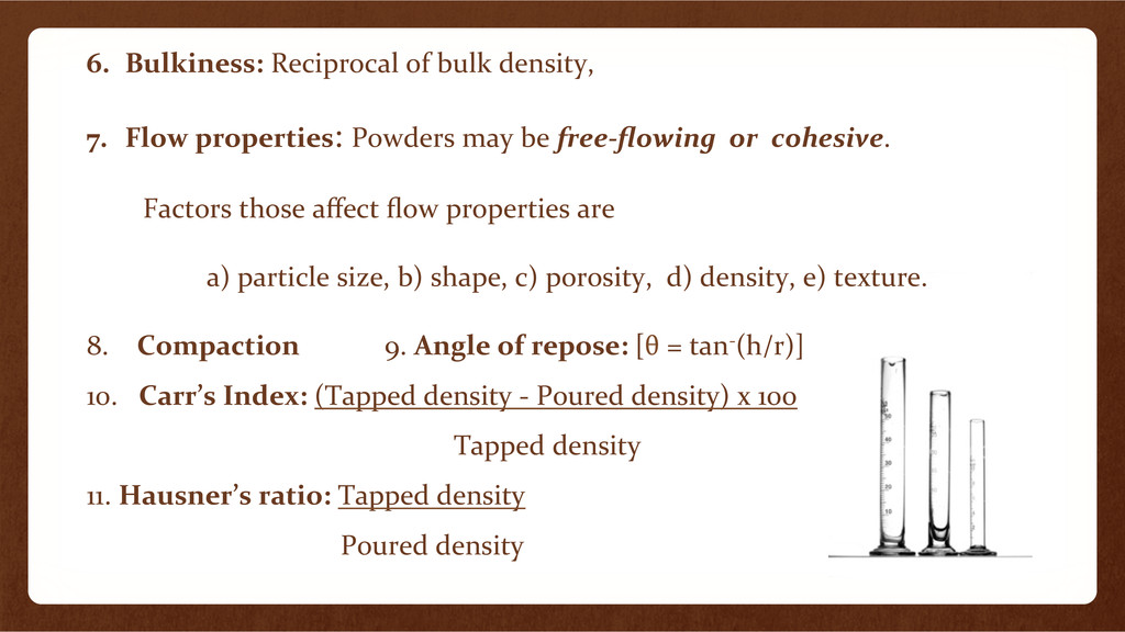 6.  Bulkiness:	