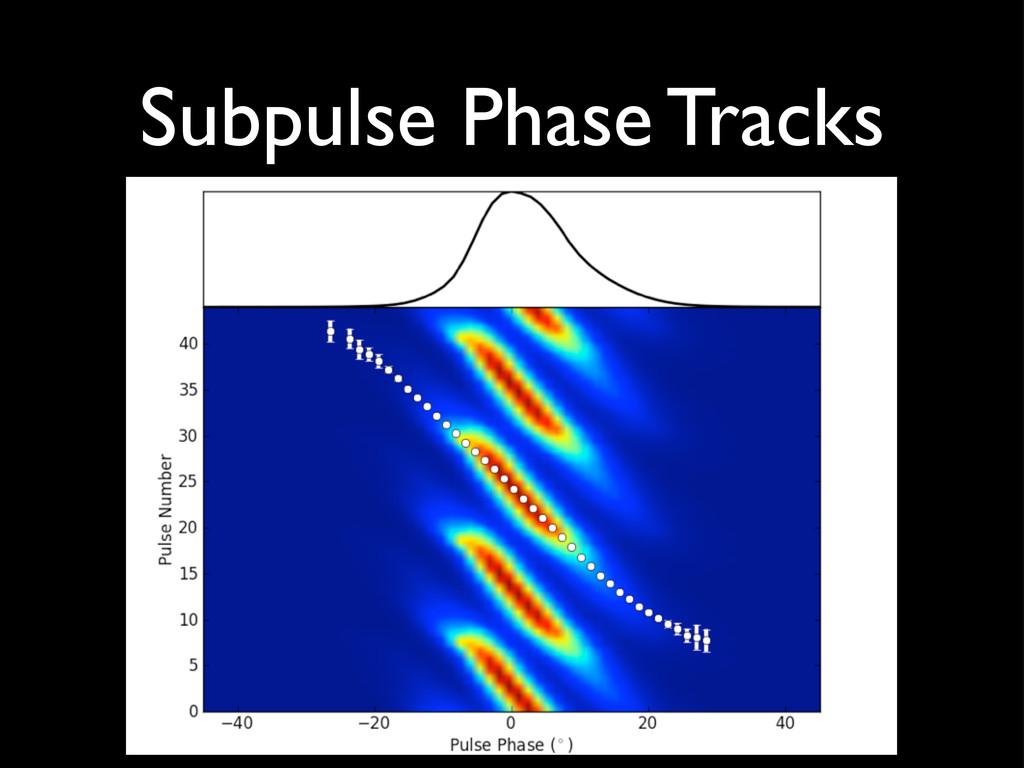 Subpulse Phase Tracks