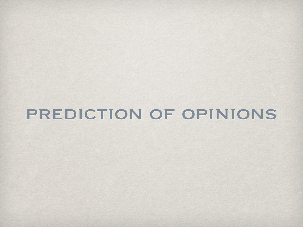 prediction of opinions