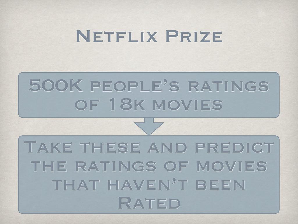 Netflix Prize 500K people's ratings of 18k movi...