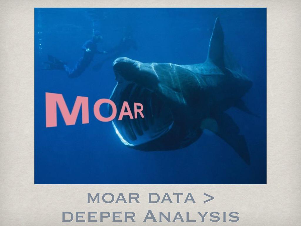 moar data > deeper Analysis