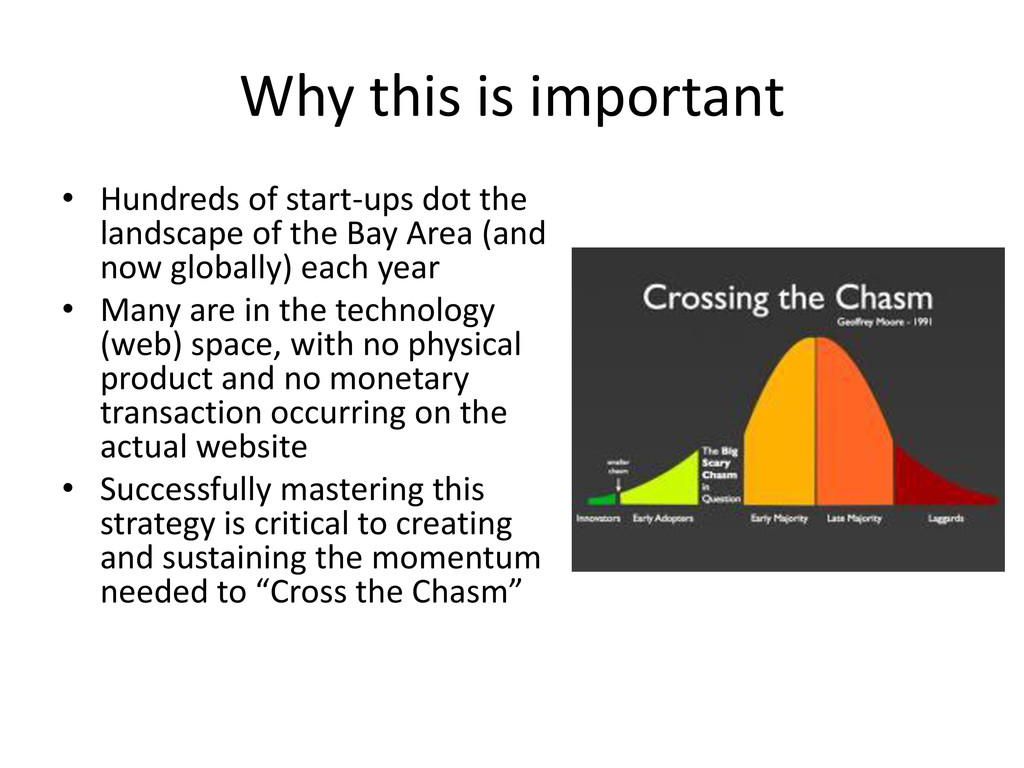 Why this is important • Hundreds of start-ups d...