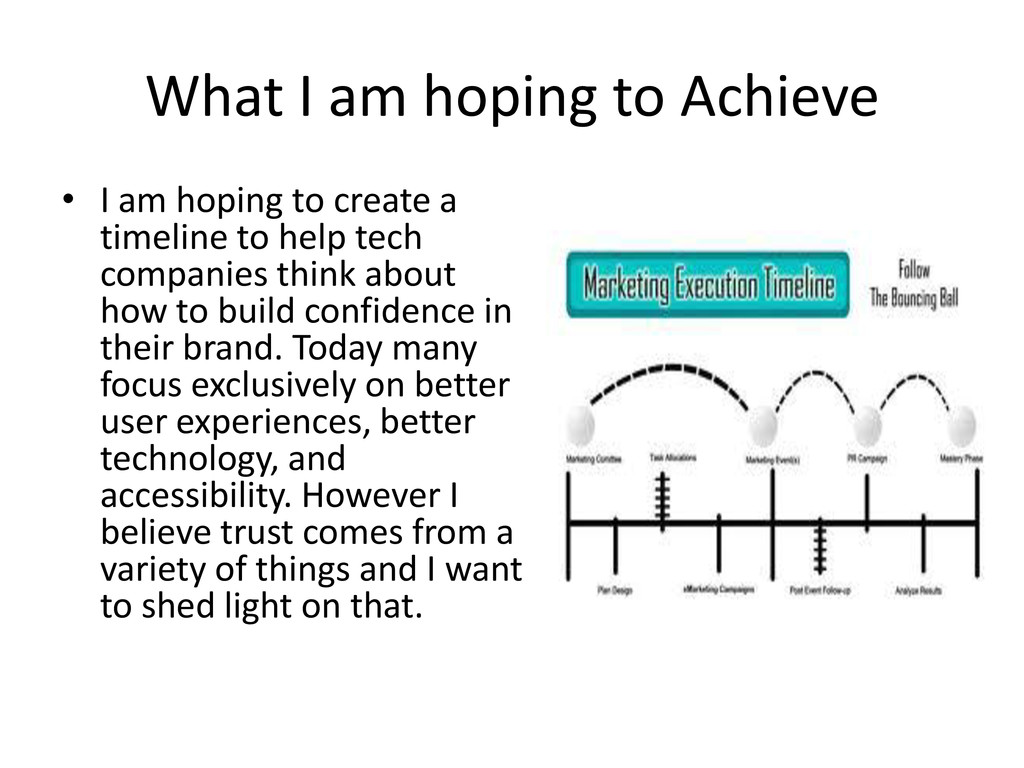 What I am hoping to Achieve • I am hoping to cr...