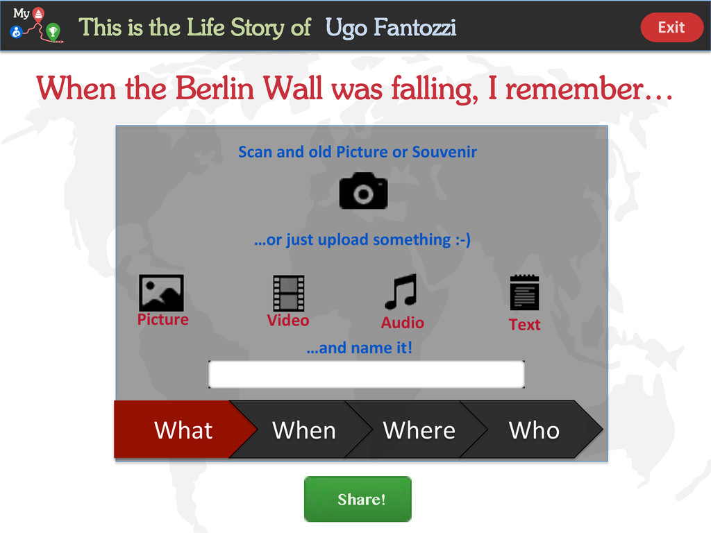 Share! When the Berlin Wall was falling, I reme...