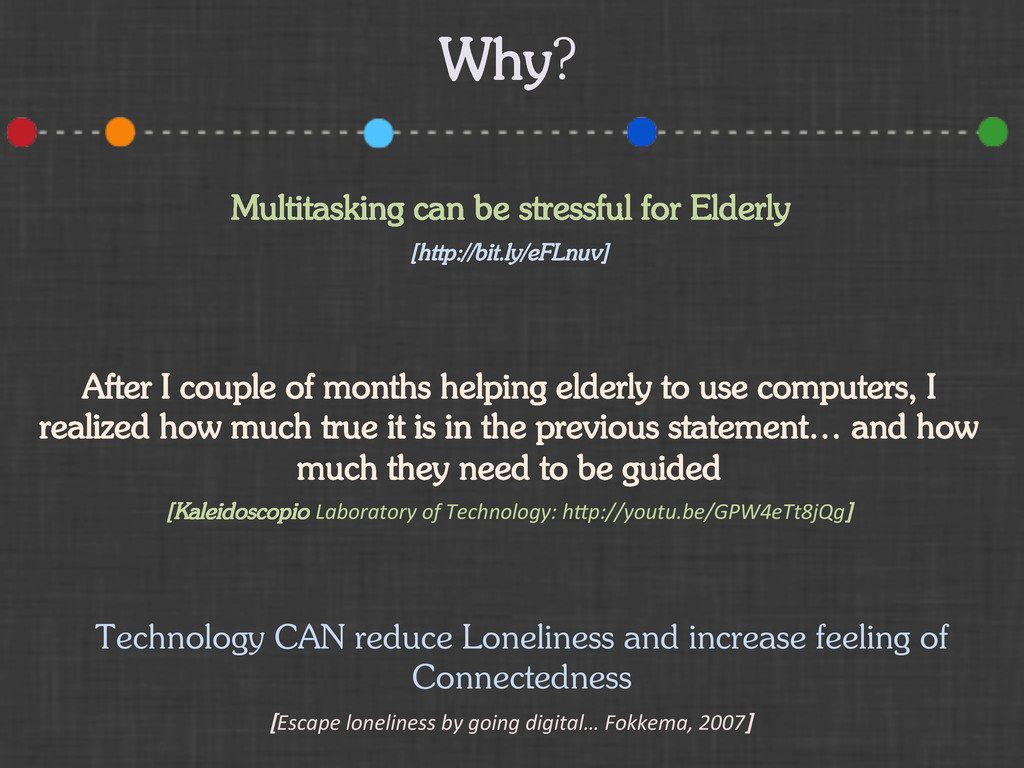 Why? Multitasking can be stressful for Elderly ...