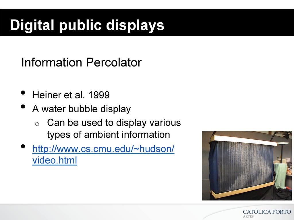 Digital public displays Information Percolator ...