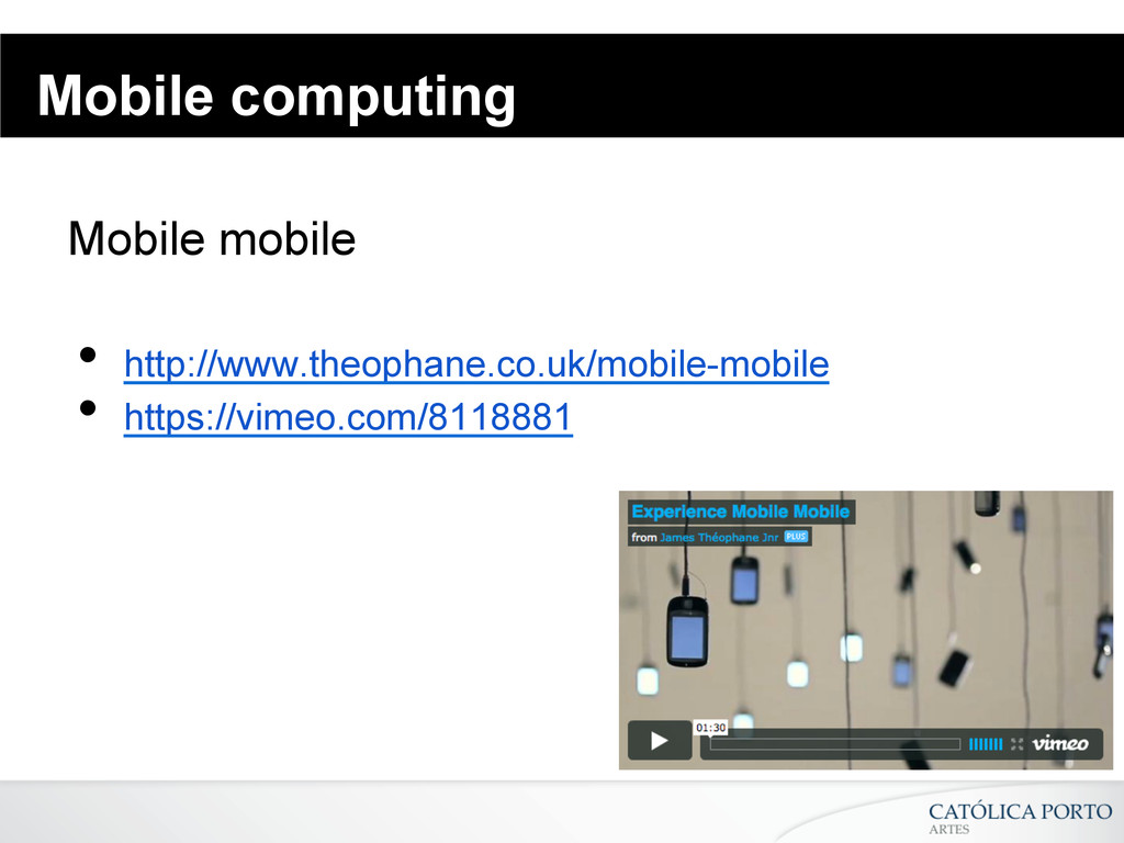 Mobile computing Mobile mobile • http://www.th...