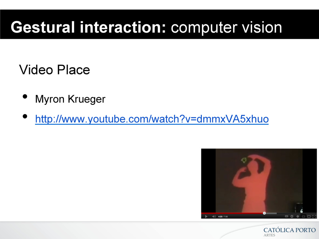 Gestural interaction: computer vision Video Pla...