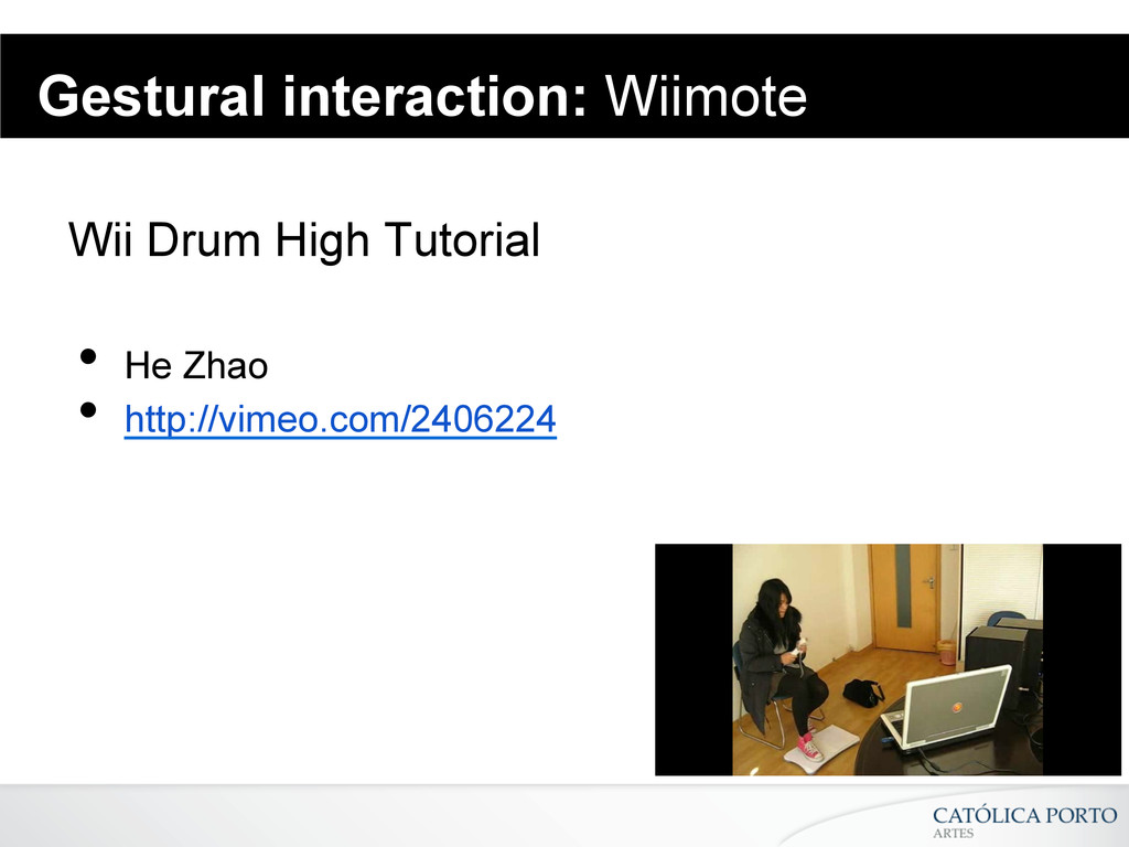 Gestural interaction: Wiimote Wii Drum High Tut...