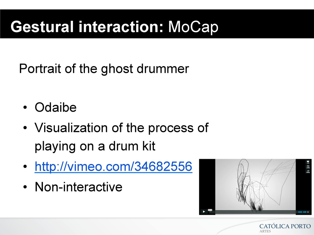 Gestural interaction: MoCap Portrait of the gho...