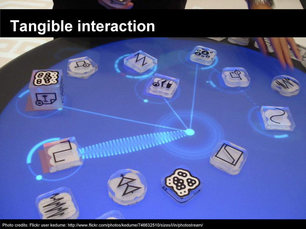 Tangible interaction Photo credits: Flickr user...