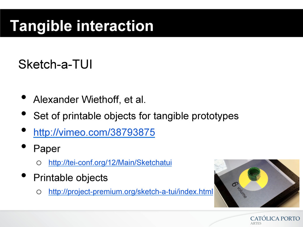 Tangible interaction Sketch-a-TUI • Alexander ...