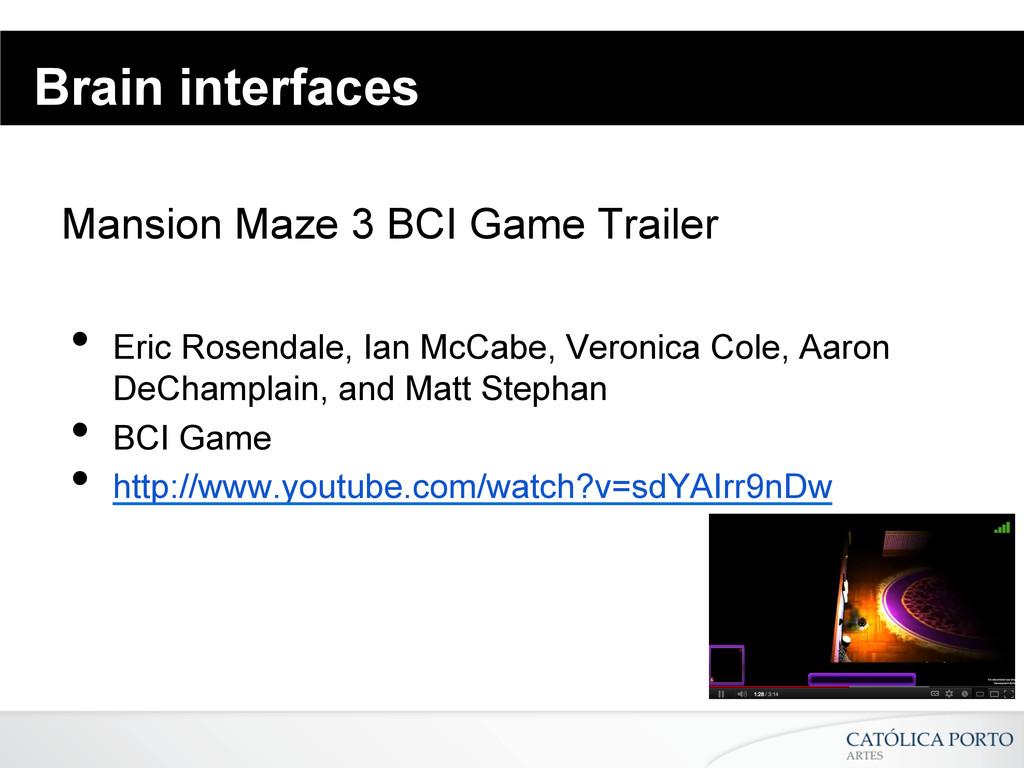 Brain interfaces Mansion Maze 3 BCI Game Traile...