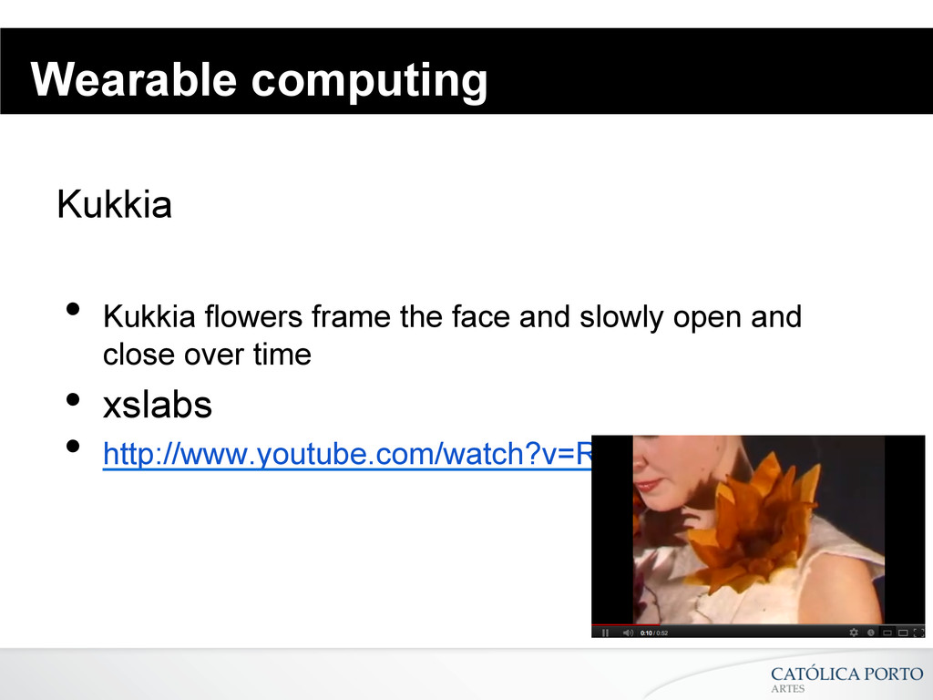 Wearable computing Kukkia • Kukkia flowers fra...