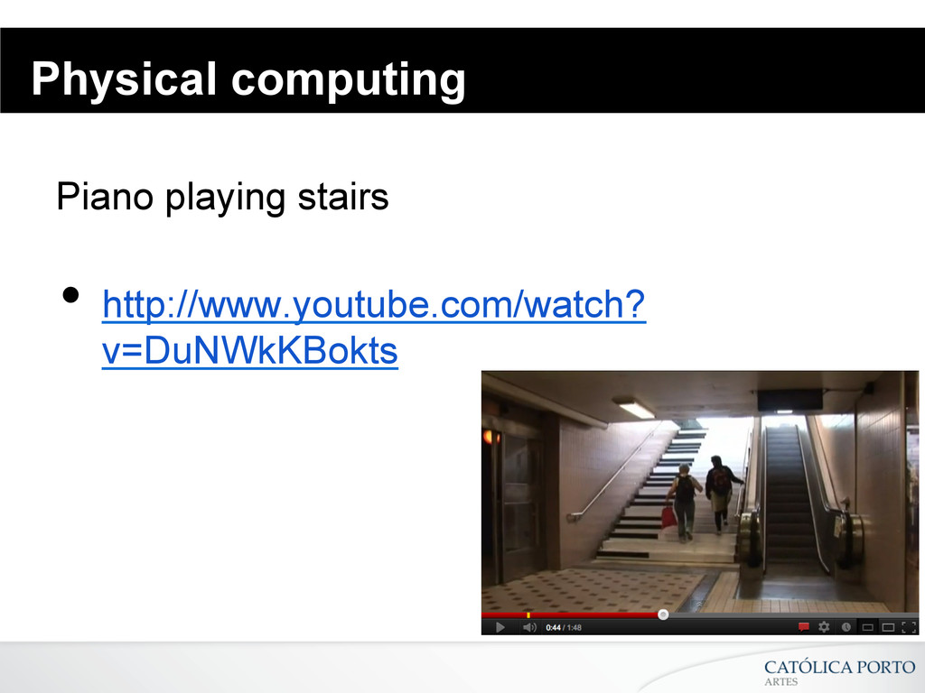 Physical computing Piano playing stairs • http...