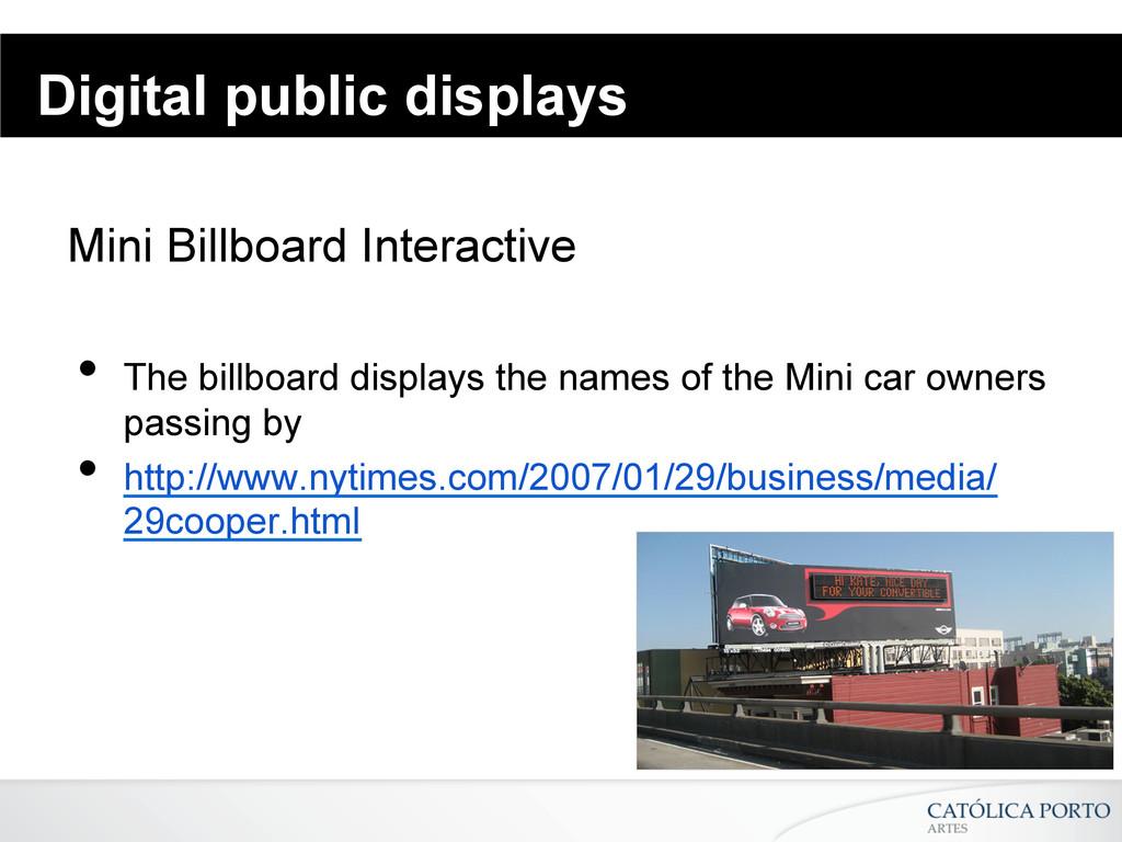 Digital public displays Mini Billboard Interact...