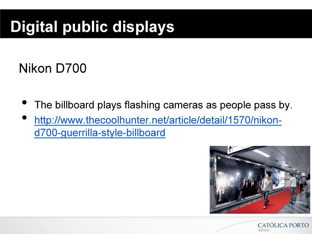 Digital public displays Nikon D700 • The billb...