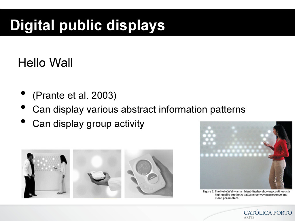 Digital public displays Hello Wall • (Prante e...