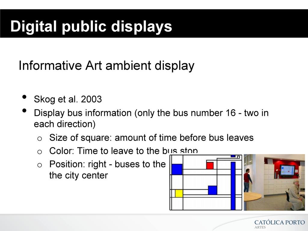 Digital public displays Informative Art ambient...