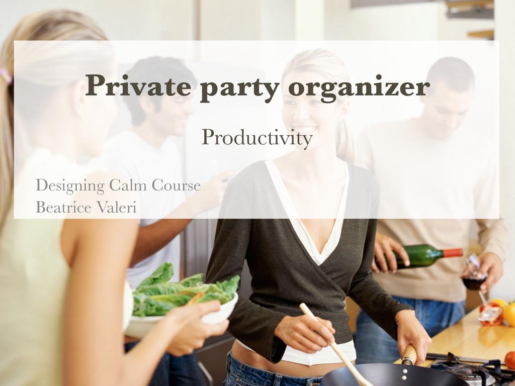 Private party organizer Productivity  Design...
