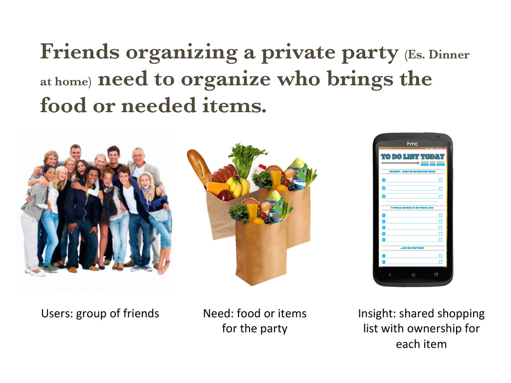 Friends organizing a private party (Es. Dinner ...