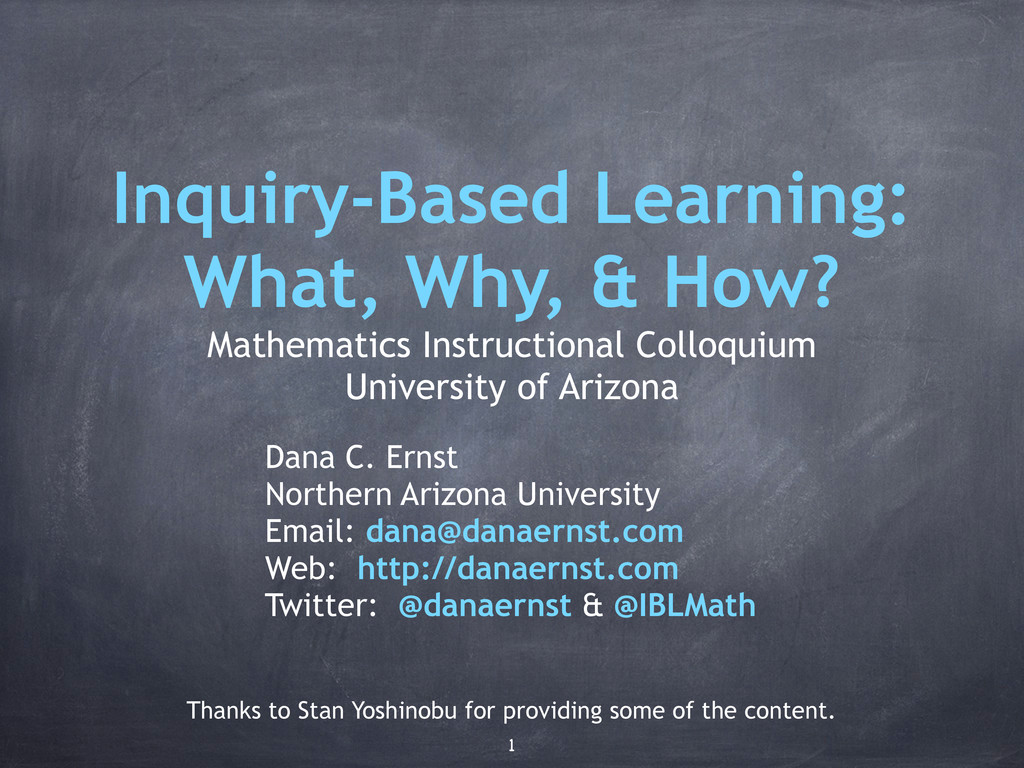 Inquiry-Based Learning: What, Why, & How? Mathe...