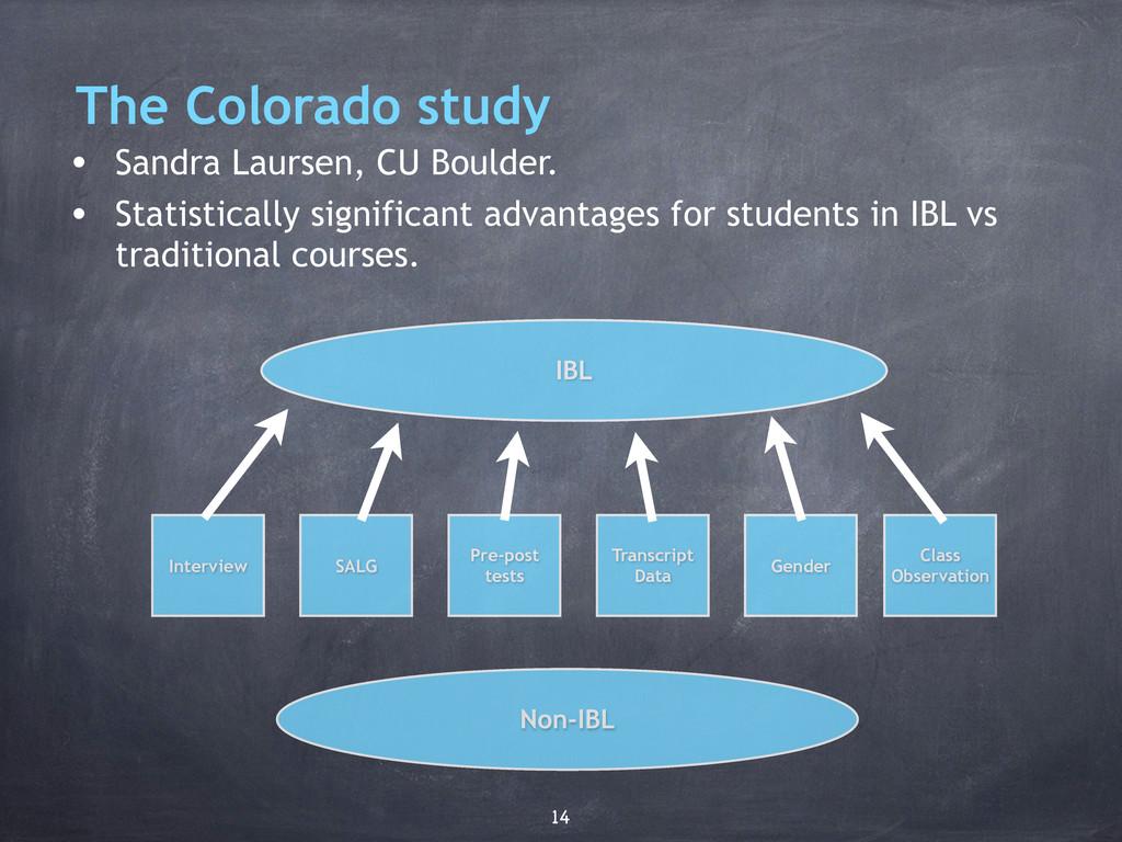 The Colorado study • Sandra Laursen, CU Boulder...