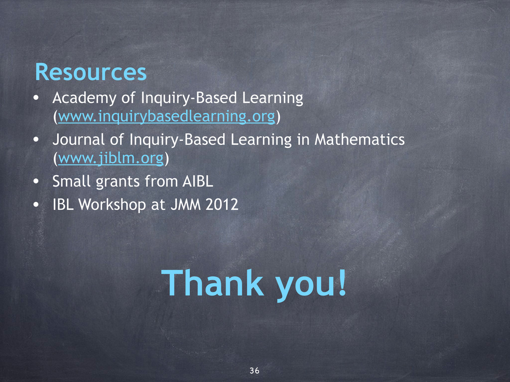• Academy of Inquiry-Based Learning (www.inquir...