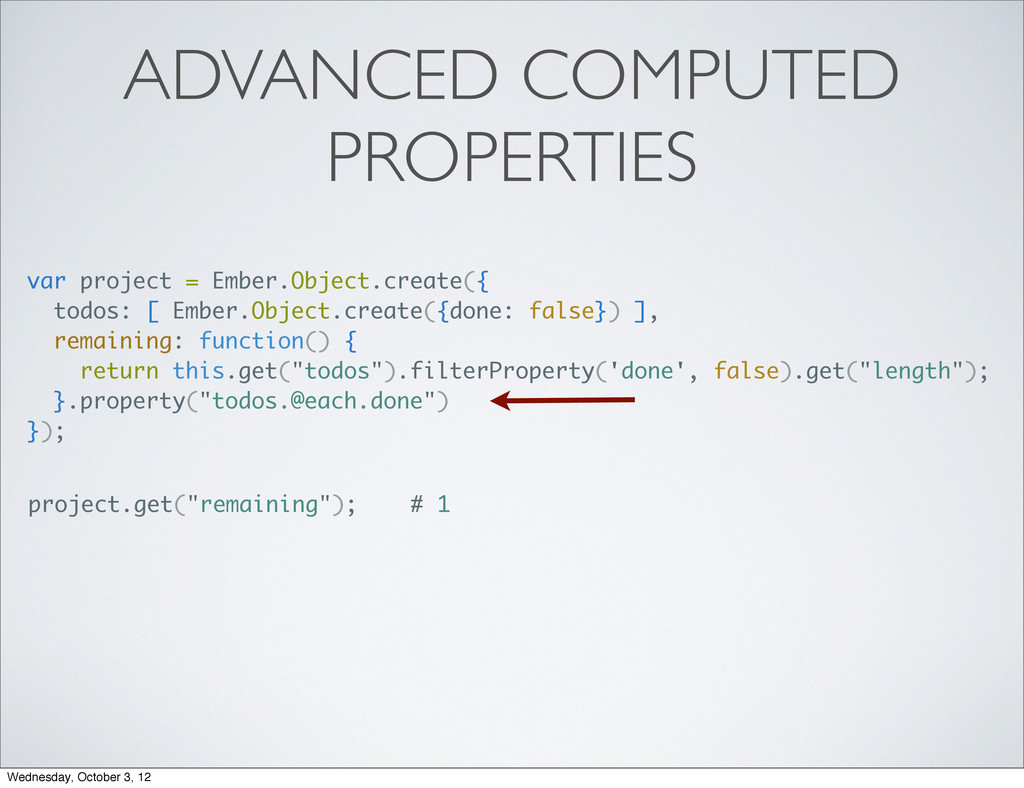 ADVANCED COMPUTED PROPERTIES var project = Embe...