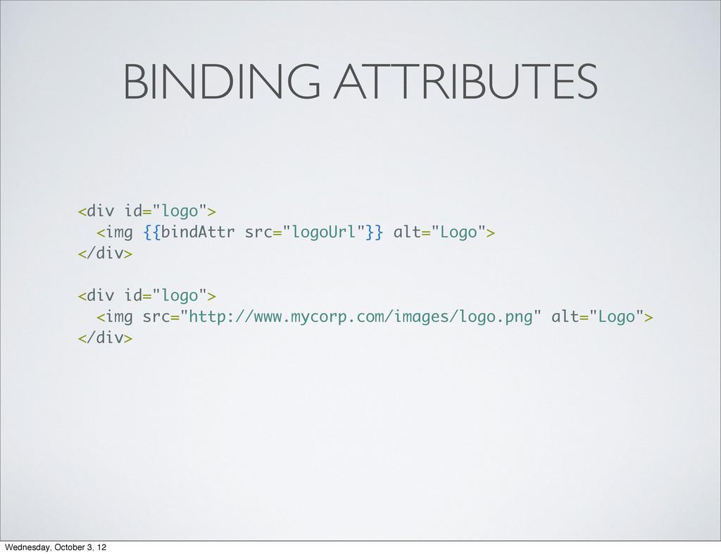 """BINDING ATTRIBUTES <div id=""""logo""""> <img {{bindA..."""