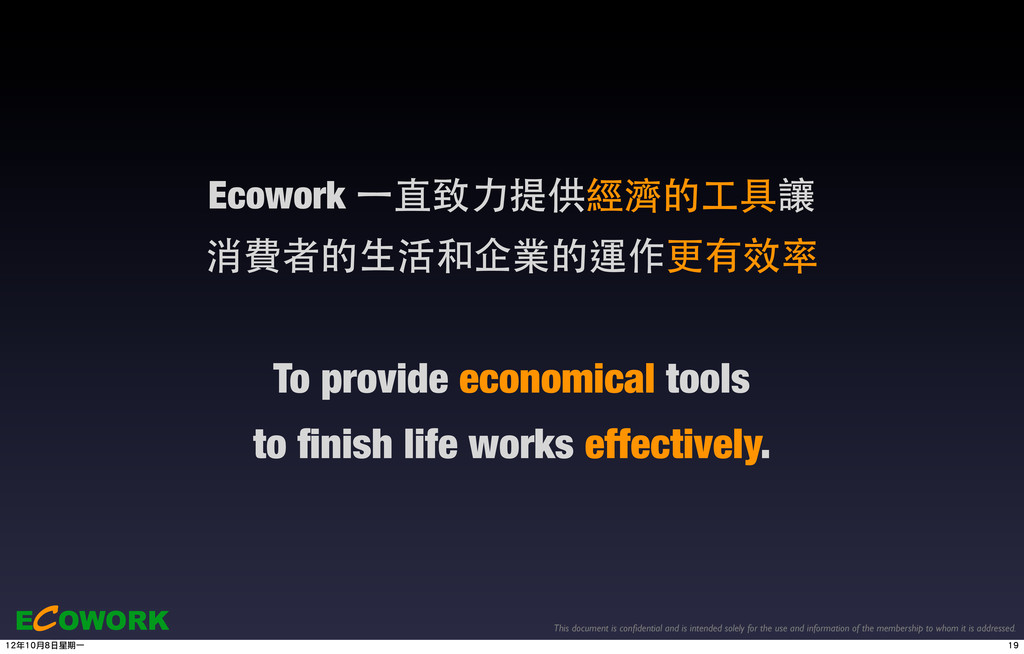 ECOWORK This document is confidential and is int...