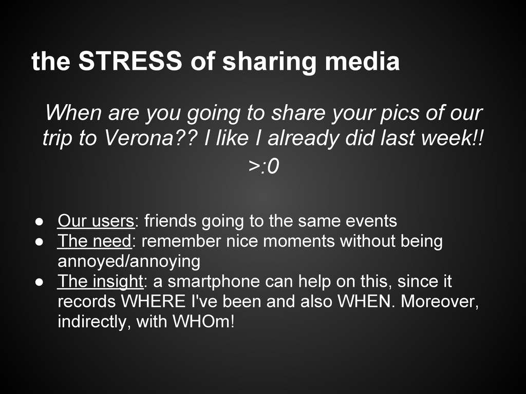the STRESS of sharing media When are you going ...