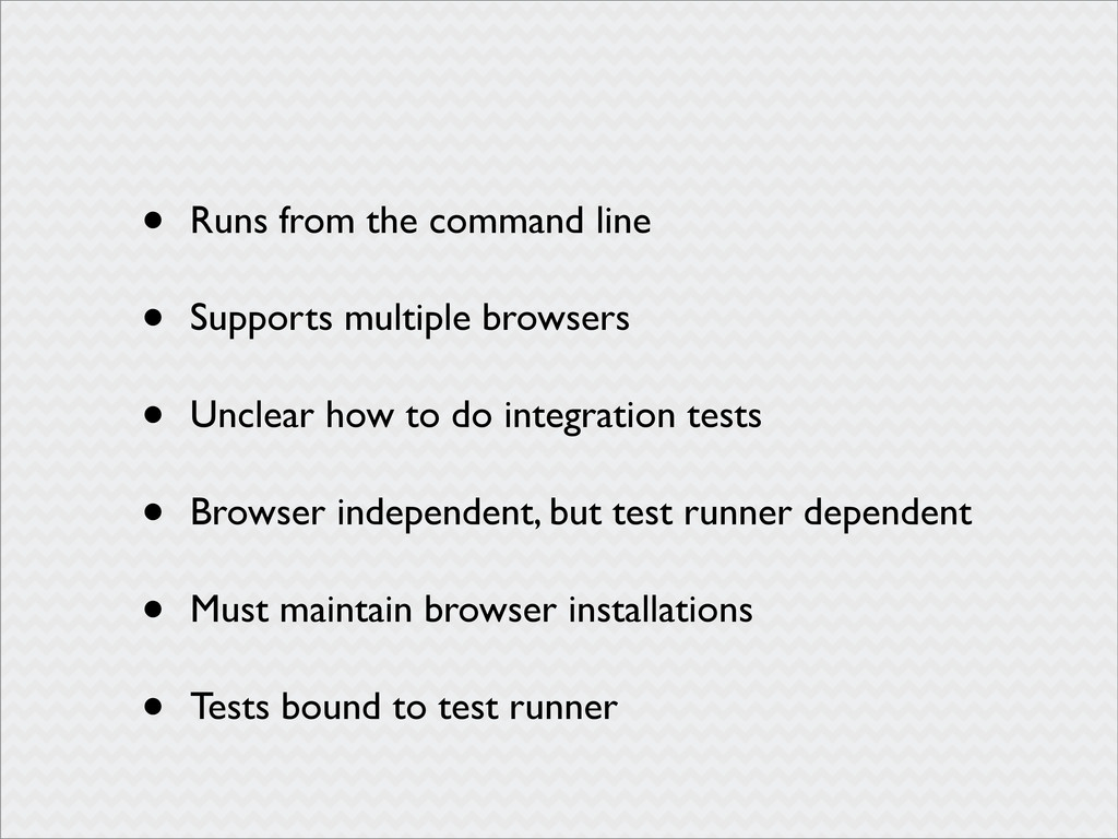 • Runs from the command line • Supports multipl...