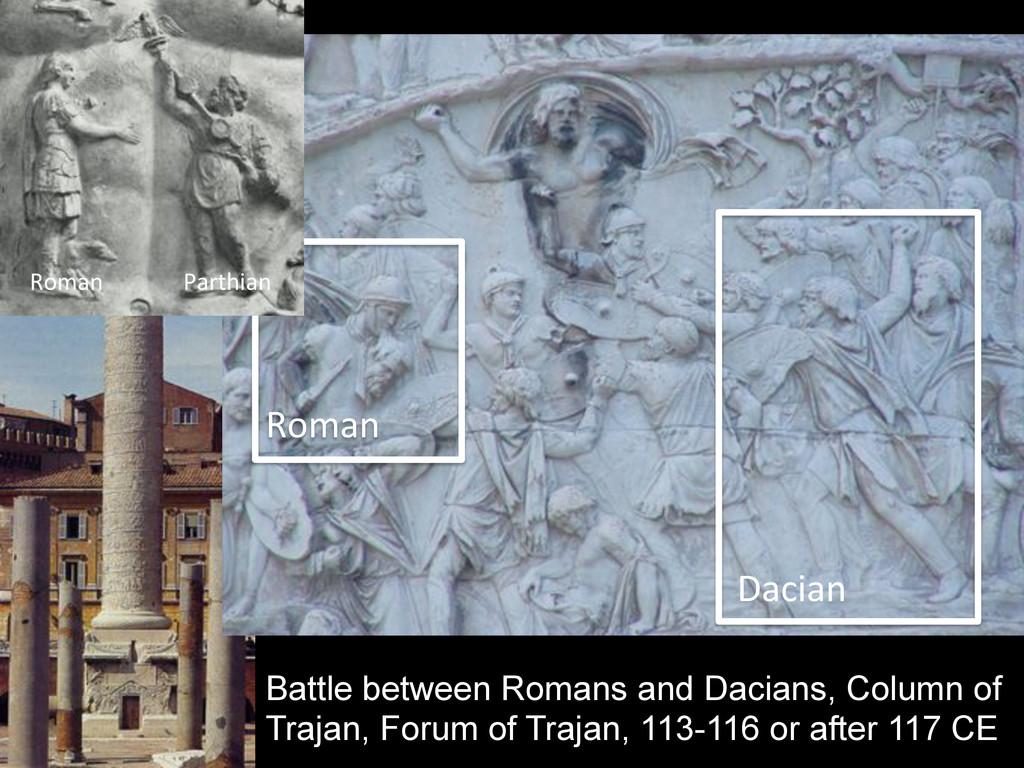Battle between Romans and Dacians, Column of Tr...