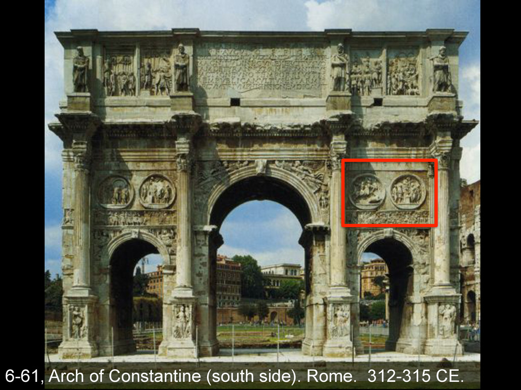 6-61, Arch of Constantine (south side). Rome. 3...