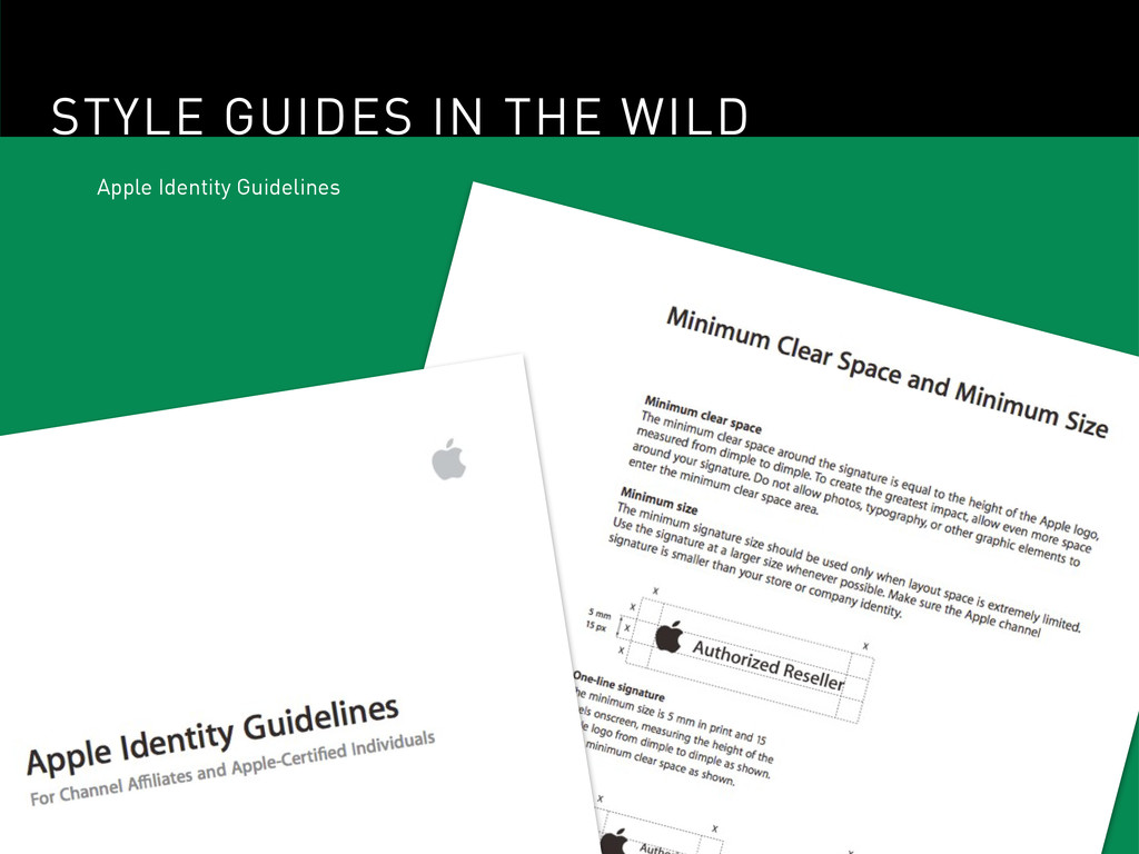 STYLE GUIDES IN THE WILD Apple Identity Guideli...