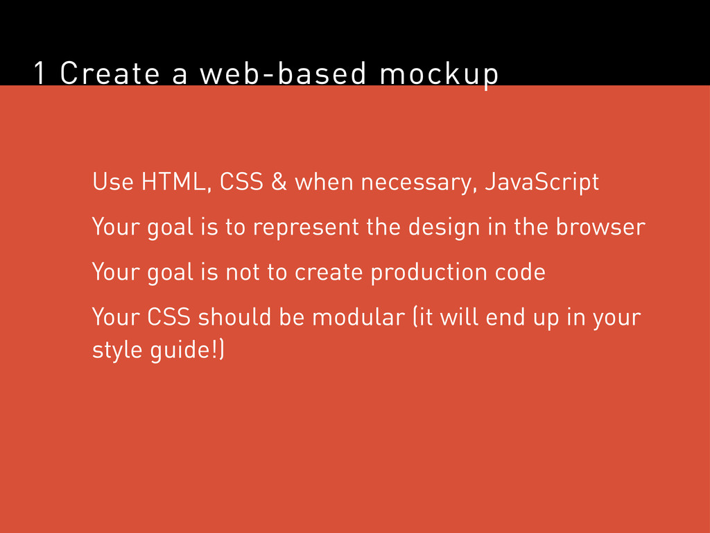1 Create a web-based mockup Use HTML, CSS & whe...