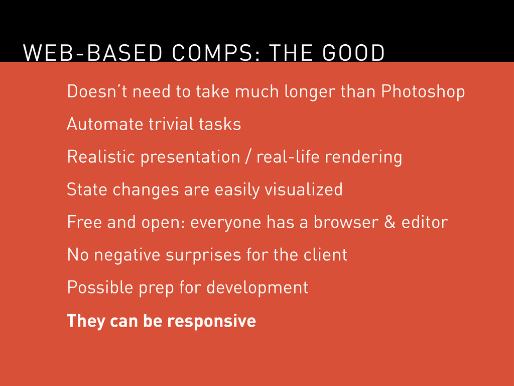 WEB-BASED COMPS: THE GOOD Doesn't need to take ...
