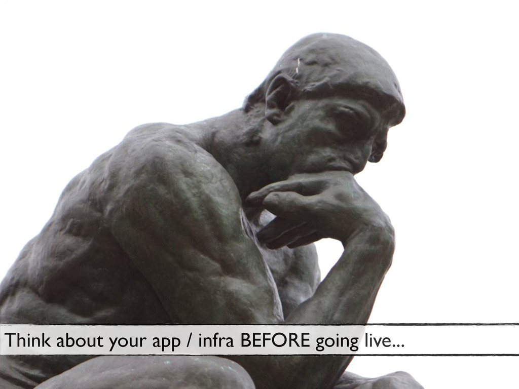 68 Think about your app / infra BEFORE going li...