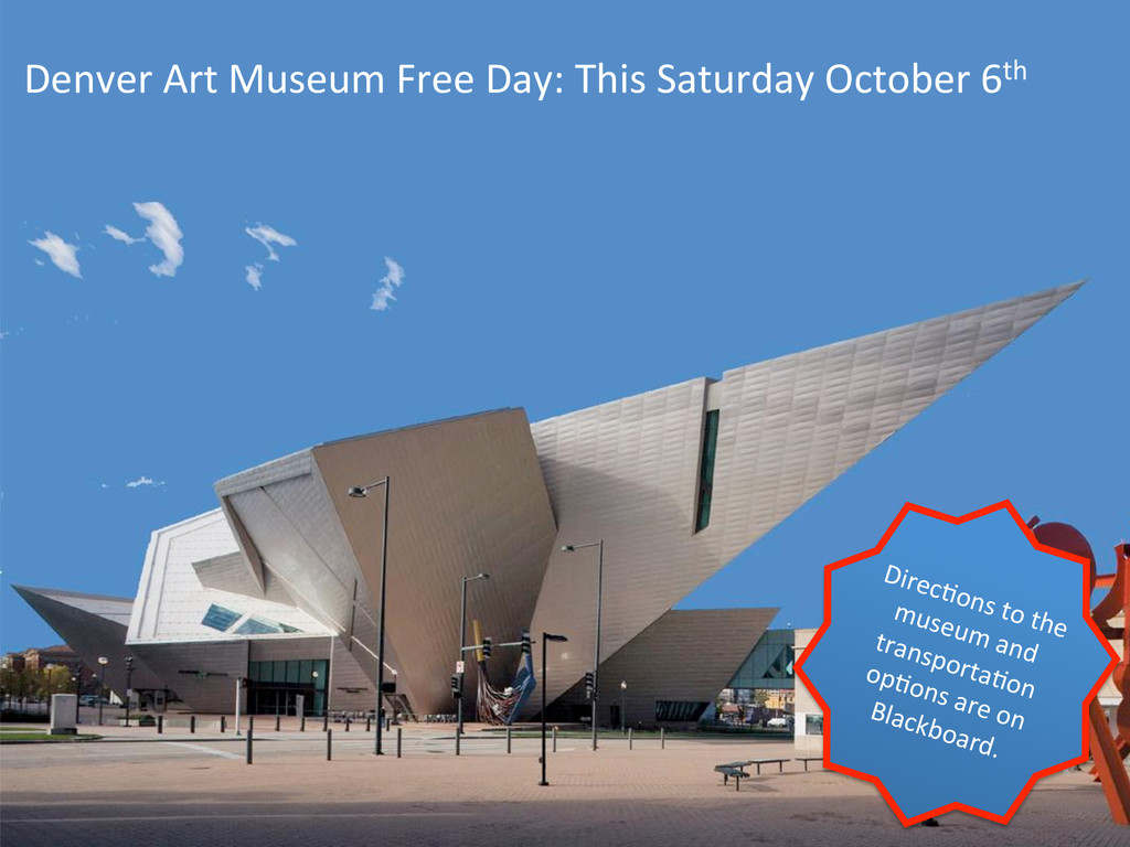 Denver Art Museum Free Day: This...