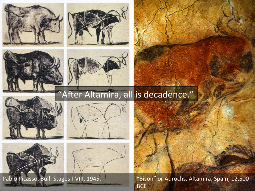Pablo Picasso, Bull: Stages I-‐VII...