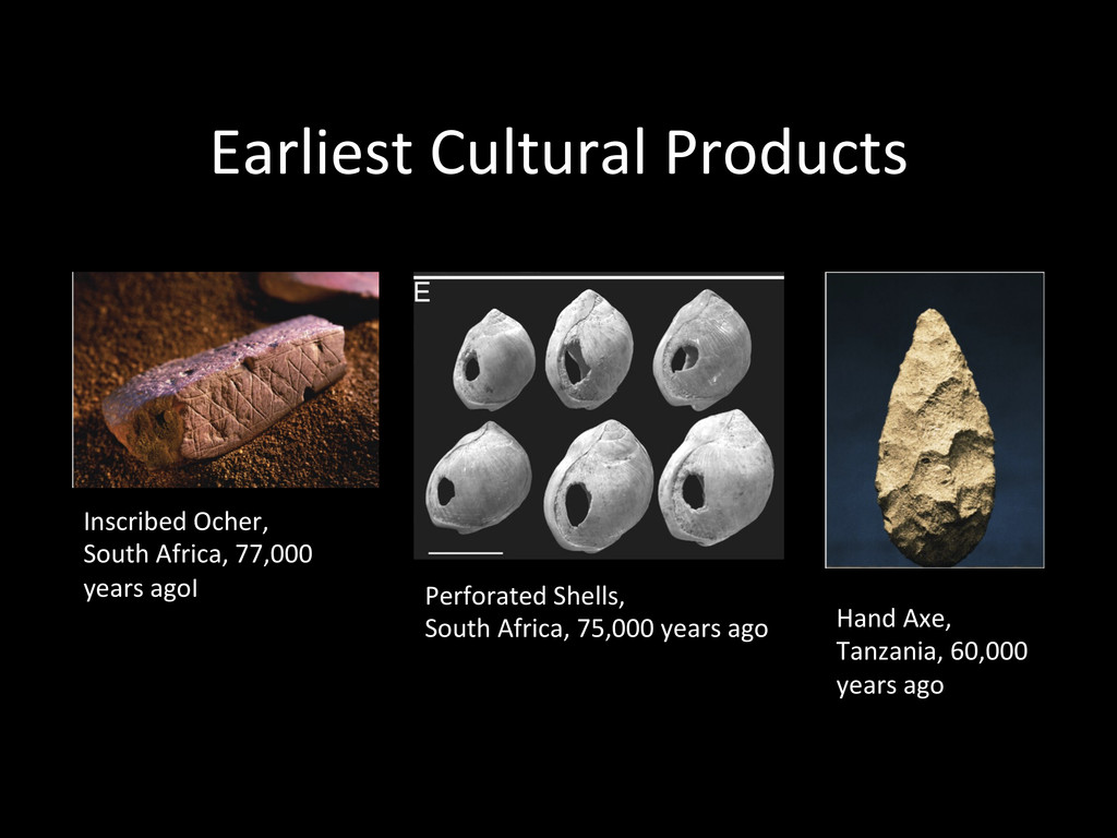 Earliest Cultural Products  Hand Ax...