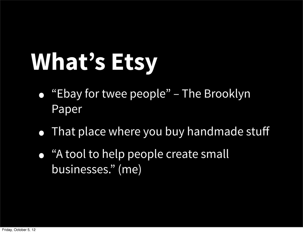 """What's Etsy • """"Ebay for twee people"""" – The Broo..."""