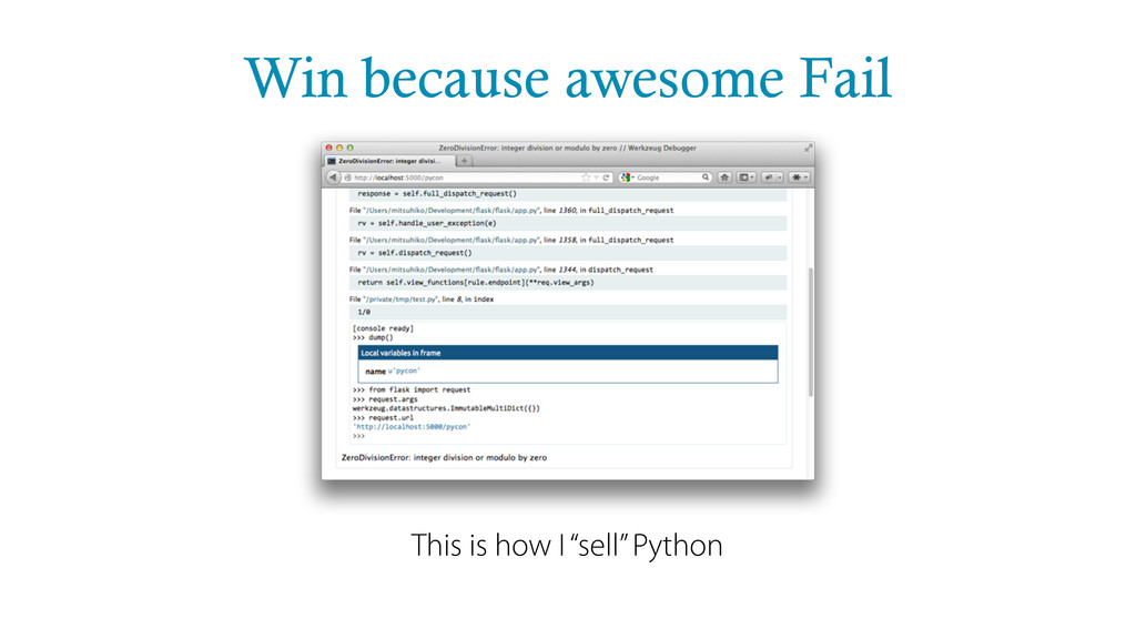 "Win because awesome Fail This is how I ""sell"" P..."