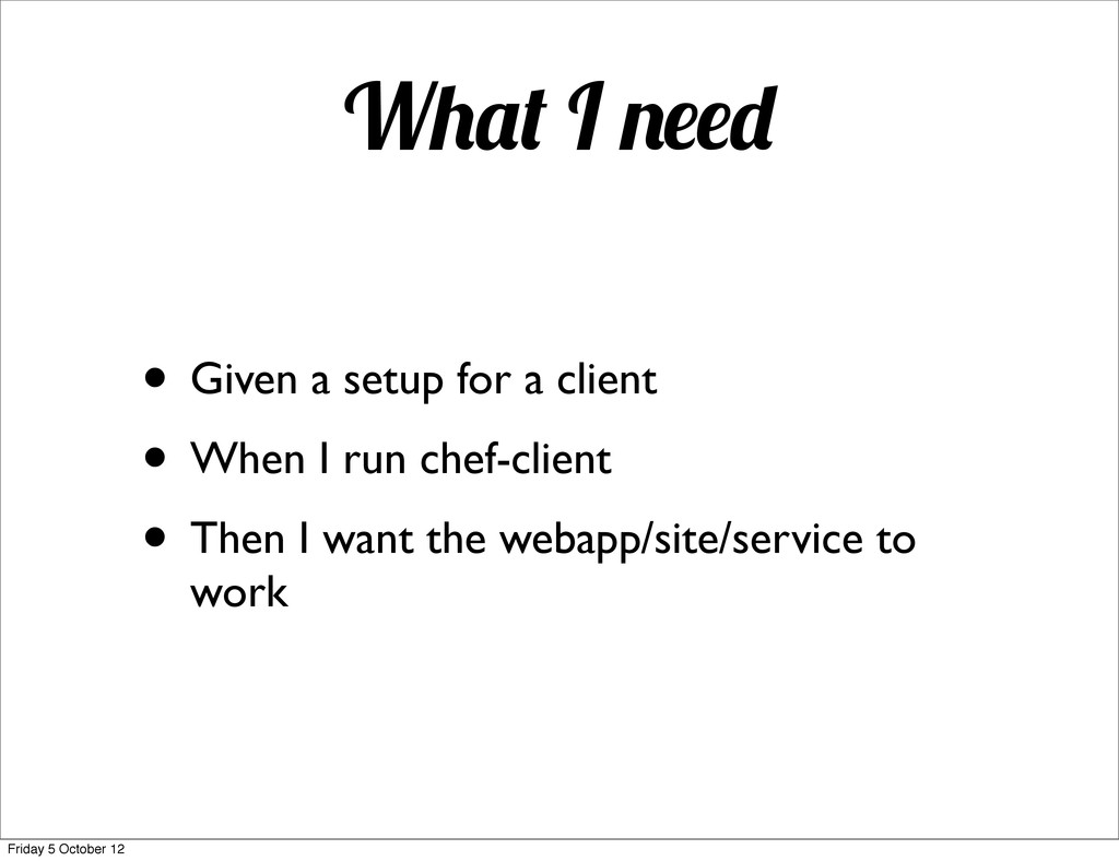 W I • Given a setup for a client • When I run c...
