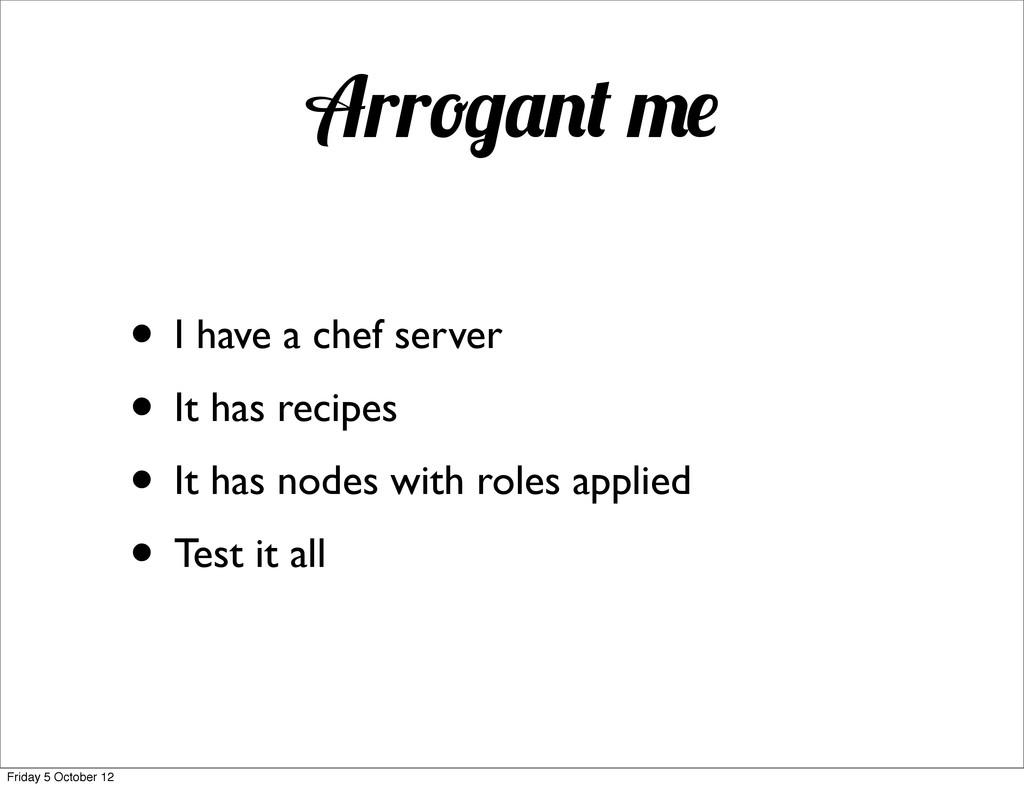 rr • I have a chef server • It has recipes • It...