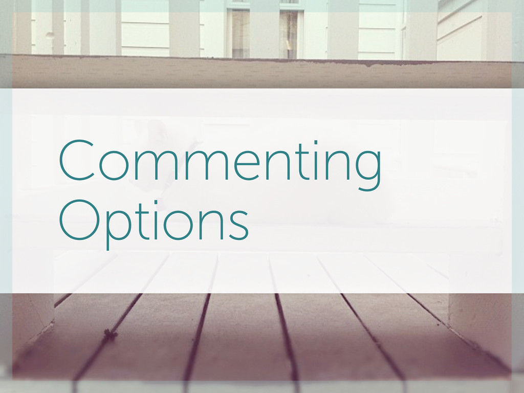 Commenting Options