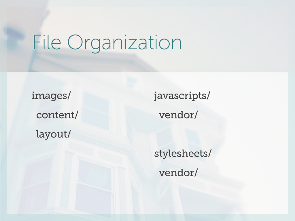 File Organization images/ content/ layout/ java...
