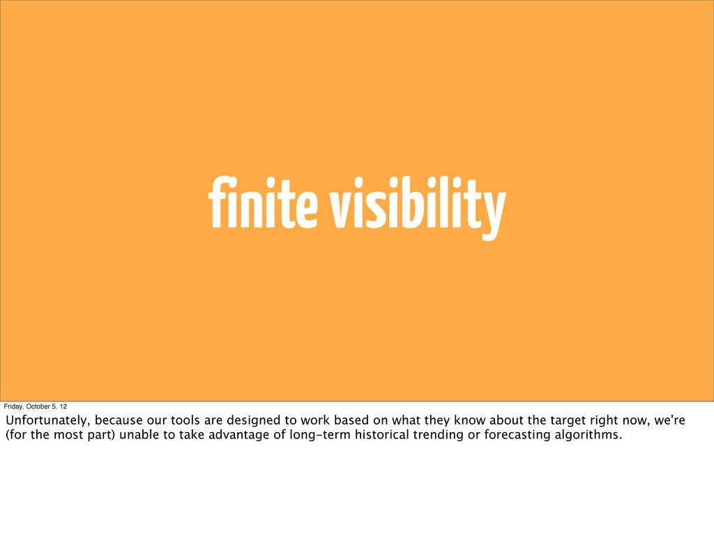 finite visibility Friday, October 5, 12 Unfortu...
