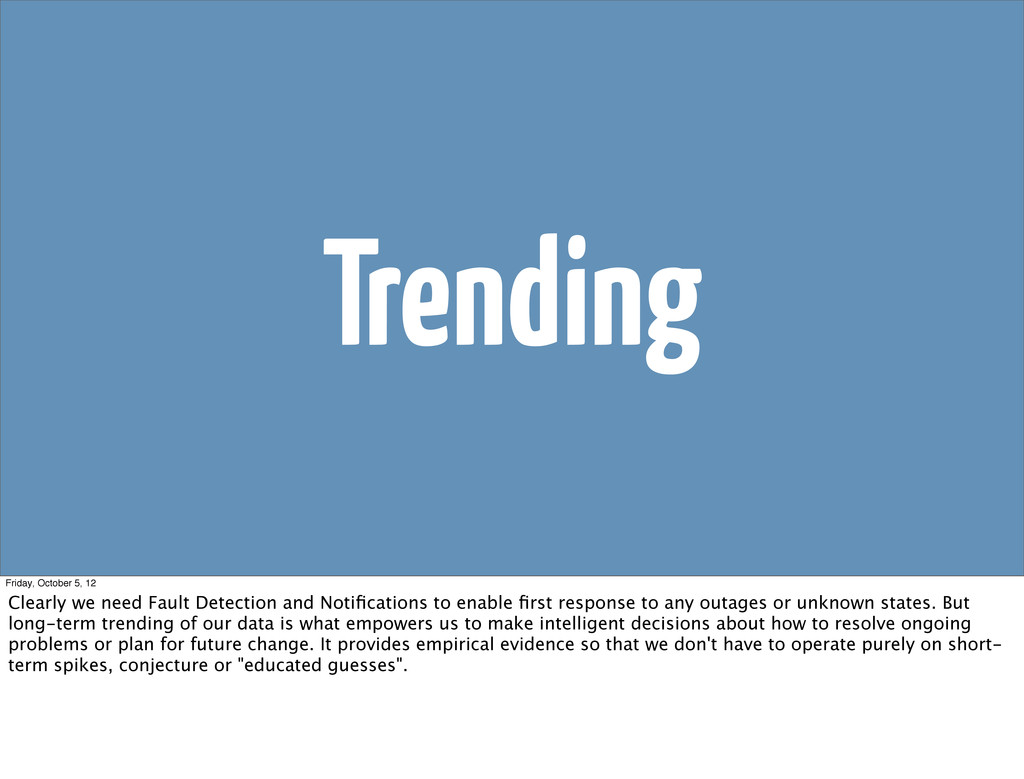 Trending Friday, October 5, 12 Clearly we need ...